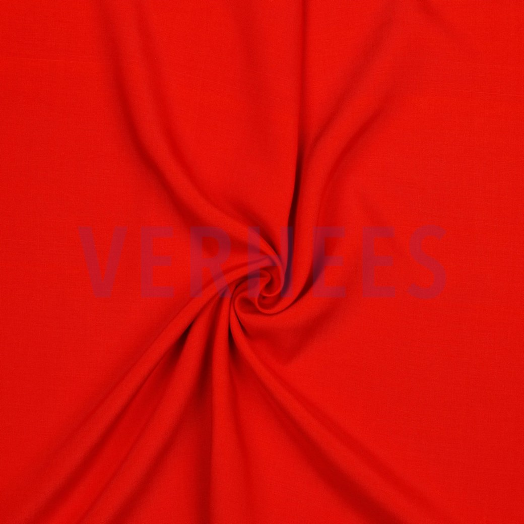 Viskose Webware uni rot, 140cm breit, 0.5m 5.00€