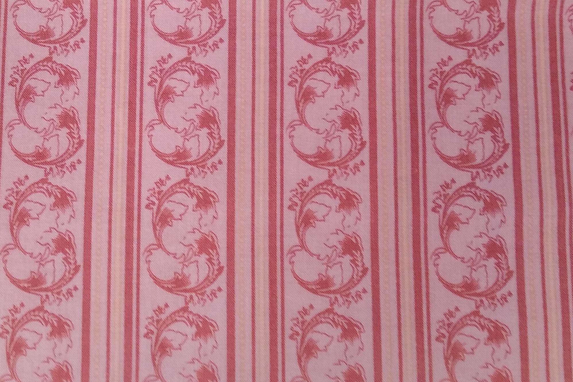 Baumwolle Streifen/ Rankenmuster, rosa, 110cm breit, 0.5m 7.50€