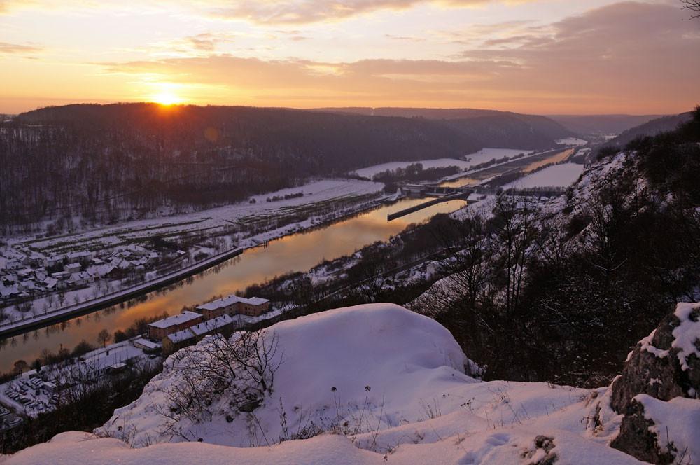 Blick über das winterliche Donau- & Altmühltal