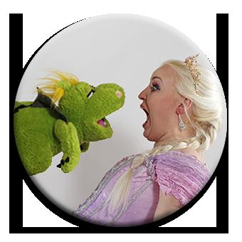 Prinzessin erschrickt sich vor Drachen - alles ist möglich wenn das Kreativduo seine Vorstellungskraft einsetzt