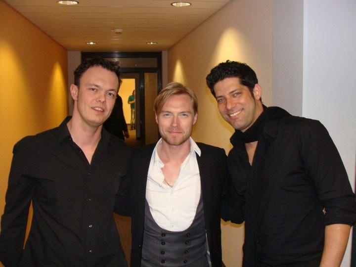 Damian mit Ronan Keating