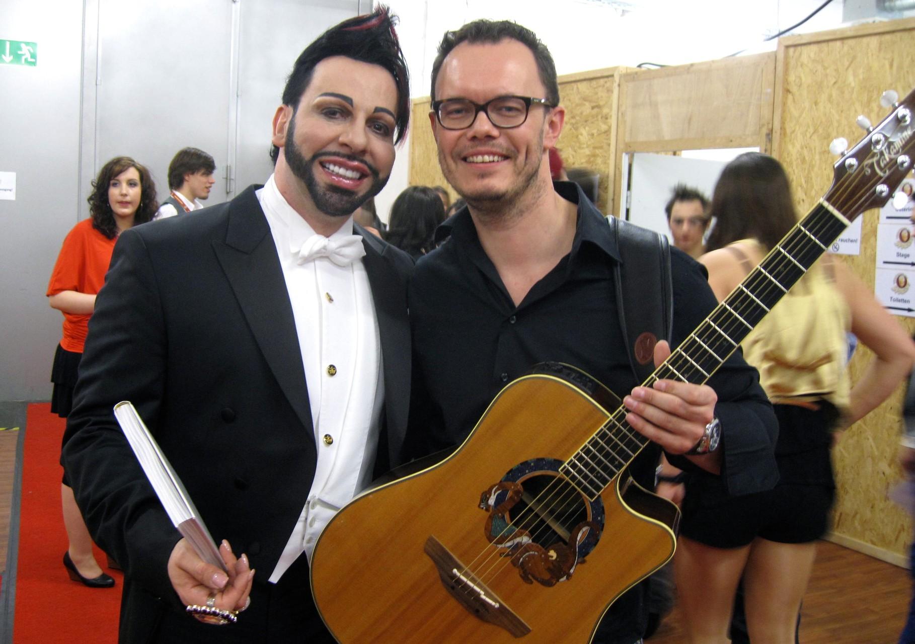Damian and Mr. Glöggler