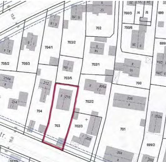 Lageplan Grundstück München Untermenzing