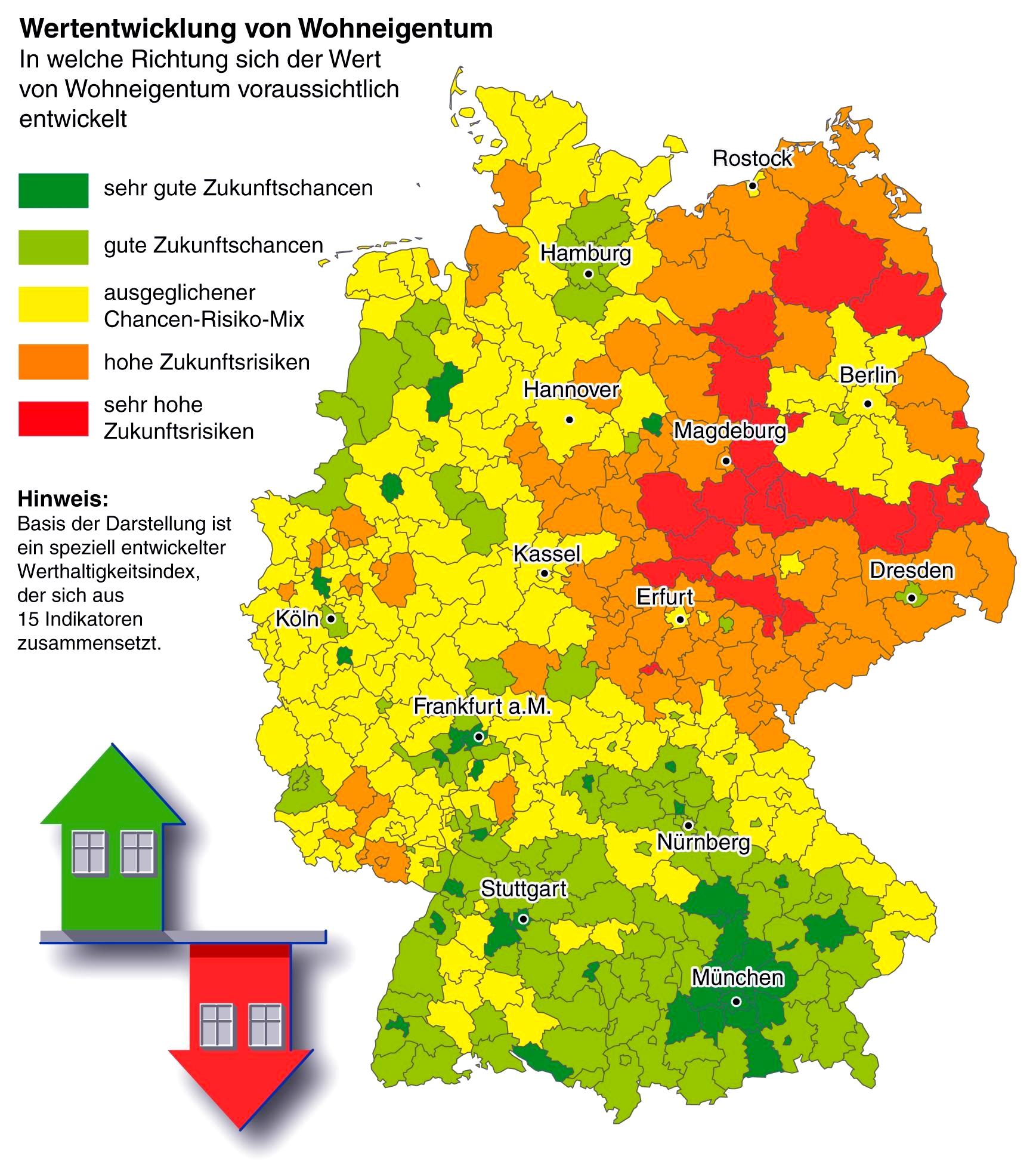 Immobilienpreise Deutschland Karte 2021