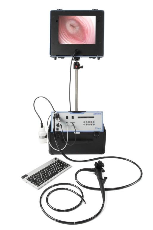 Mobil mit Dokumentation und höhenverstellbarem Stativ