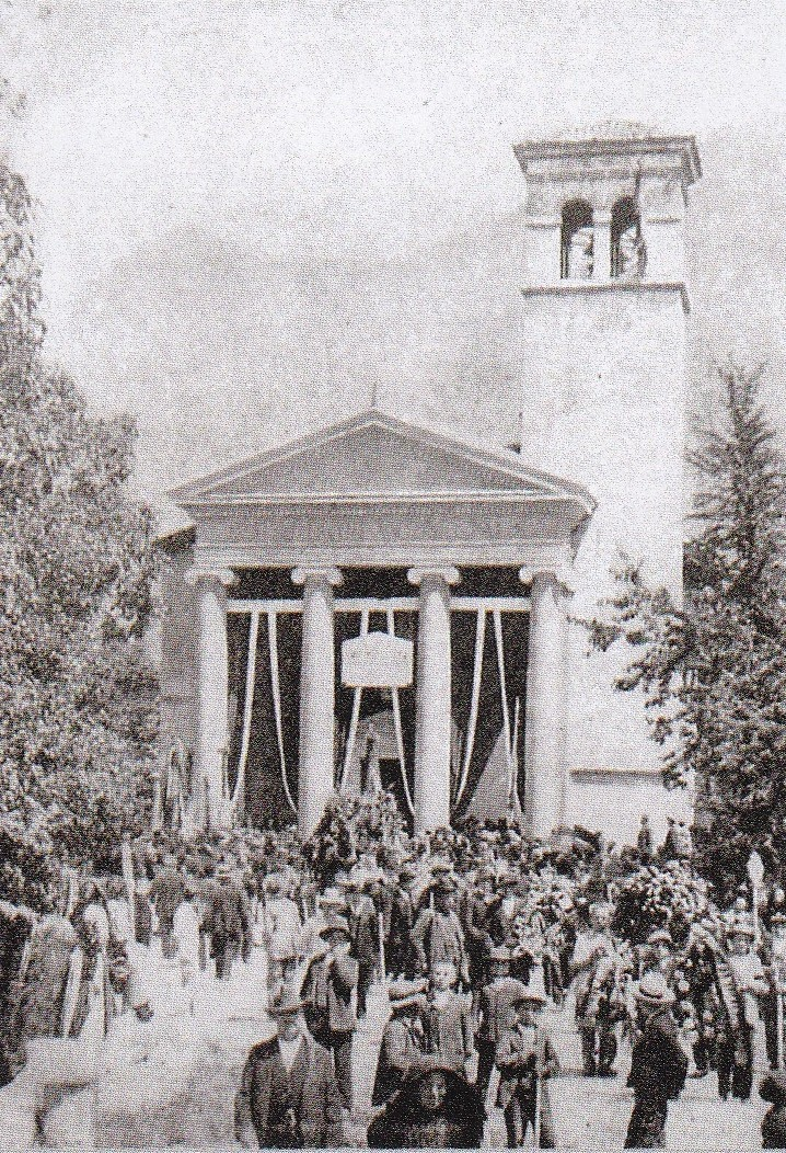 Il funerale di Giacomo Ceconi a Pielungo