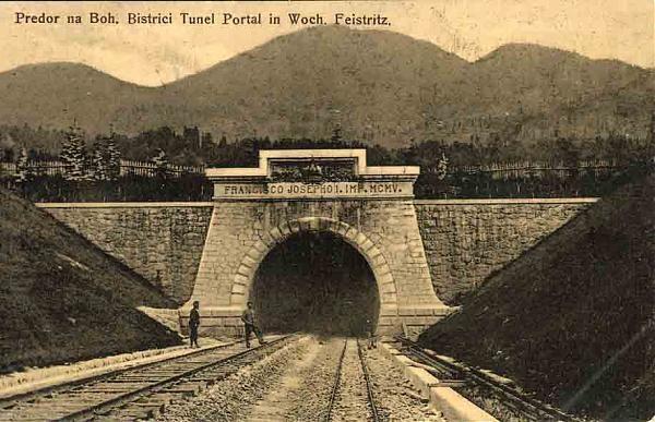 Il tunnel della Ferrovia Transalpina fra Wochein Feistritz (Bohinjska Bistrica) e Podbrdo.