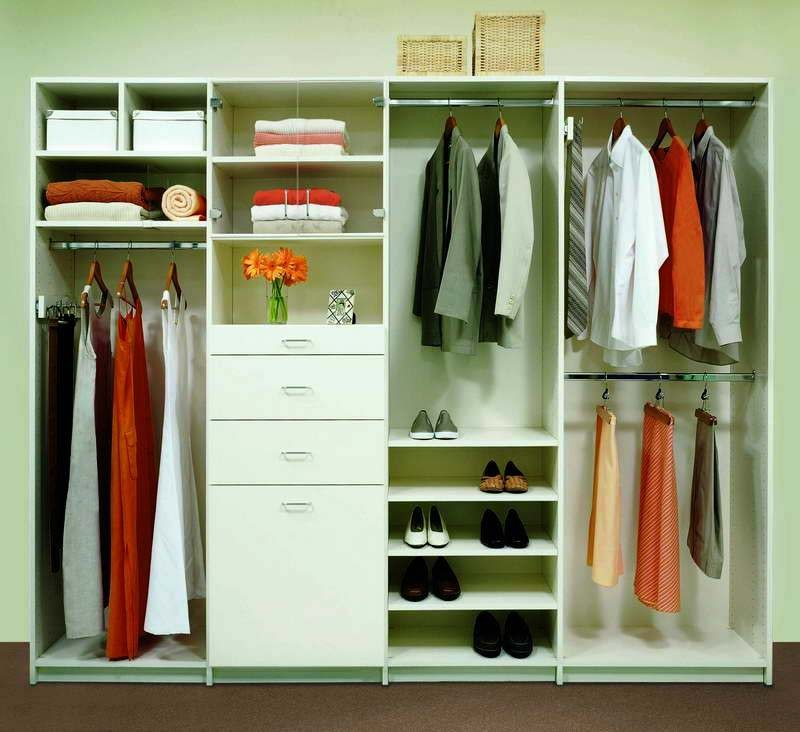 Closets y walk in closet modernos mr muebles modulares for Barras para colgar ropa ikea