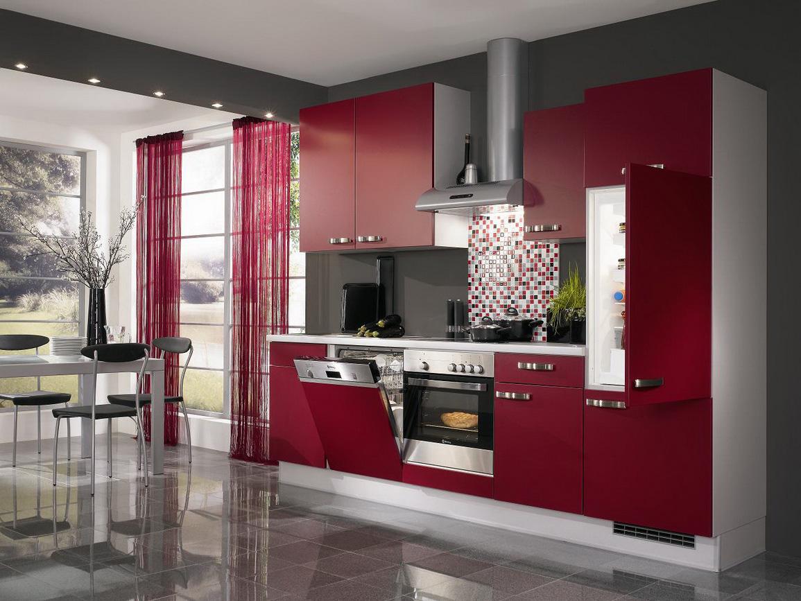 Muebles De Cocinas Modernos Cocinas Integrales Modernas Rojas  # Muebles Cocina Nigran