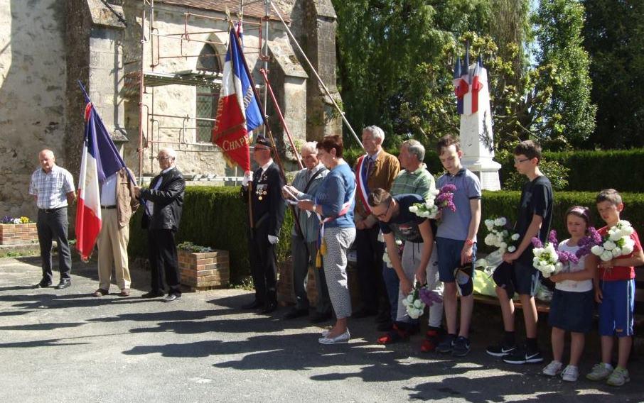 Et hommage aux soldats de La Chapelle-Monthodon