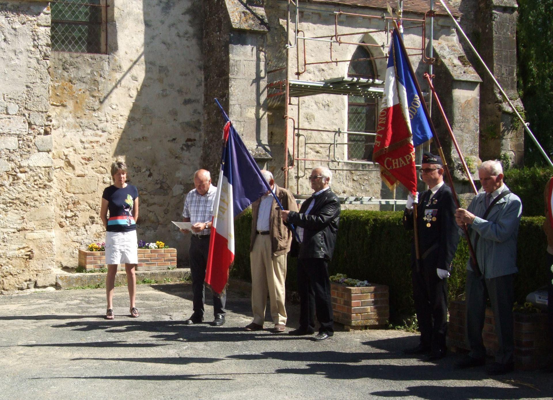 Puis hommage aux soldats de Baulne-en-Brie