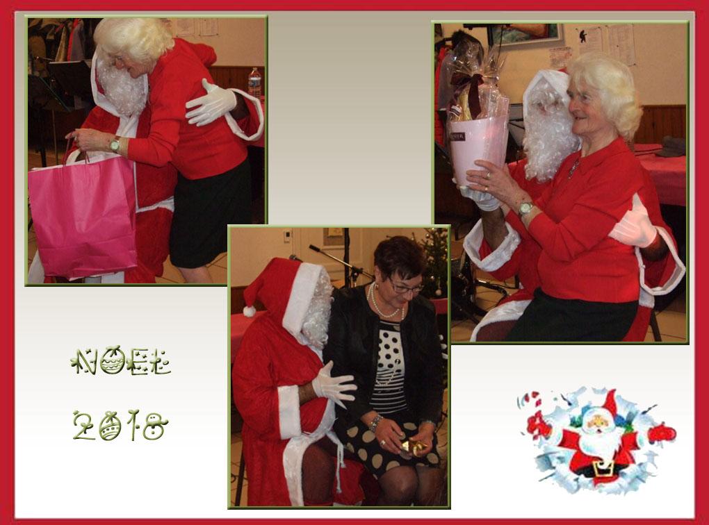 La présidente du club des seniors et la maire déléguée reçoivent elles aussi un petit cadeau