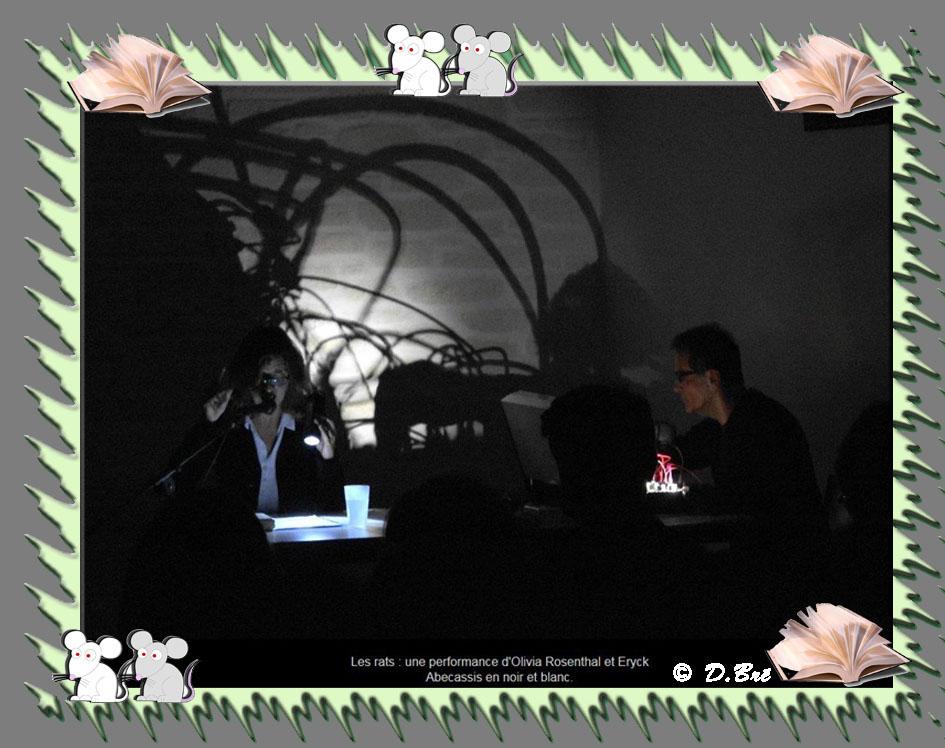Spectacle dans la pénombre ayant pour thème les rats - Eryck Abecassis (compositeur) et Olivia Rosenthal