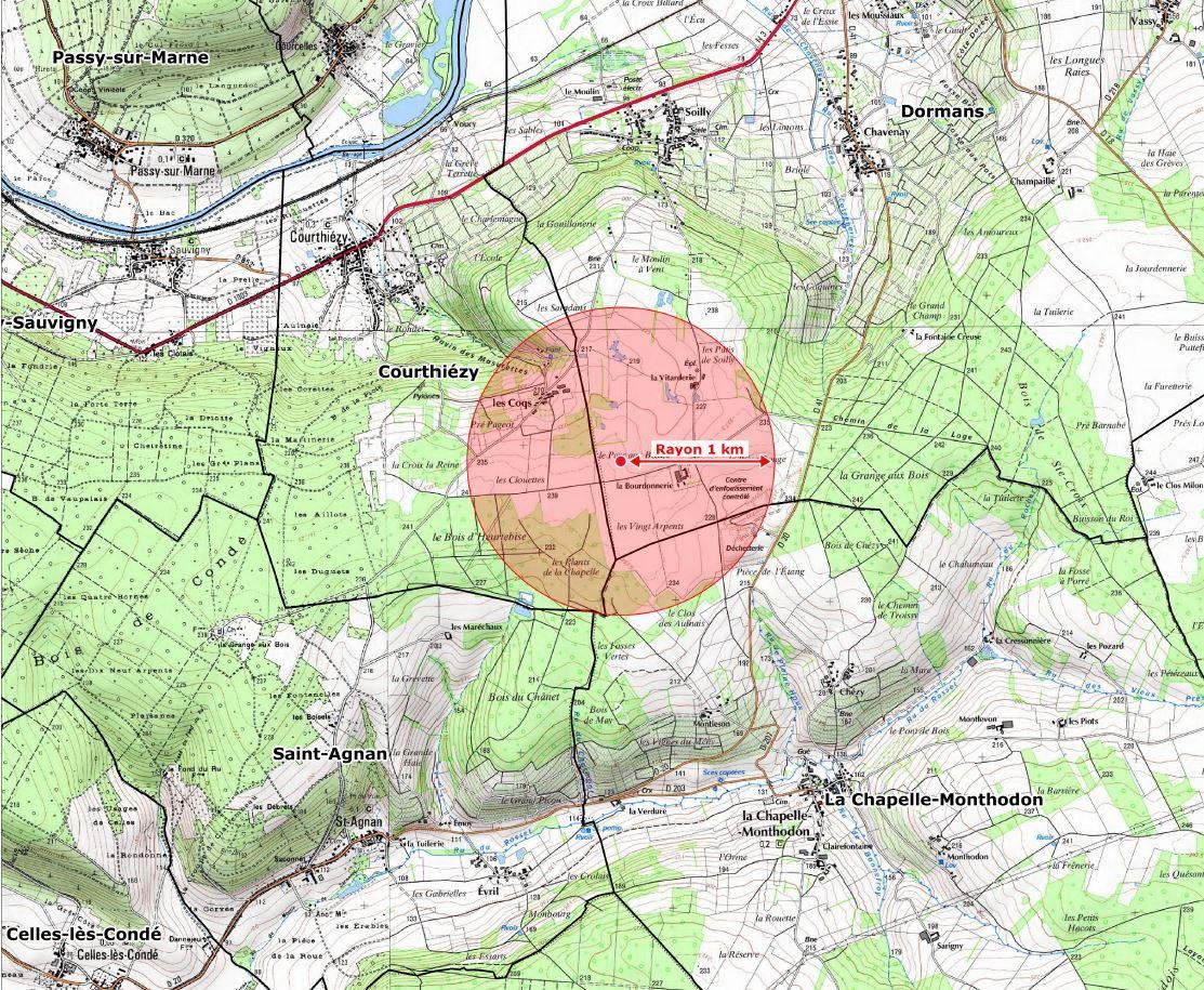 La situation géographique du projet.