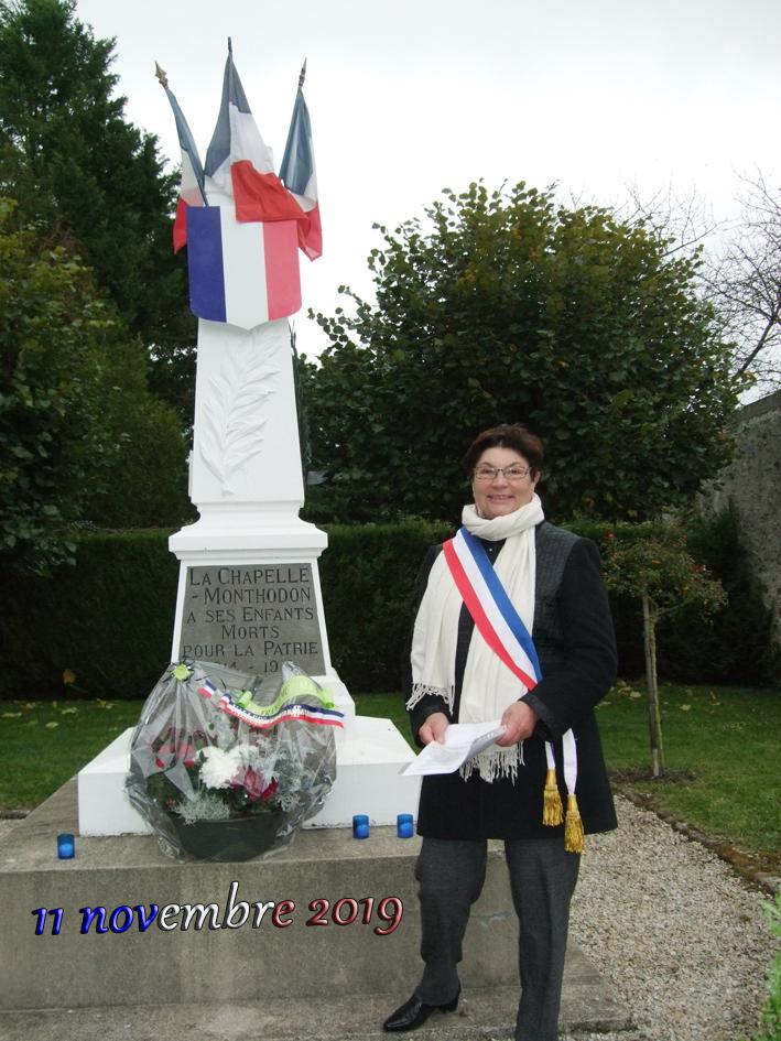 La dernière cérémonie commémorative de Jacqueline Picart, maire déléguée de La Chapelle-Monthodon.
