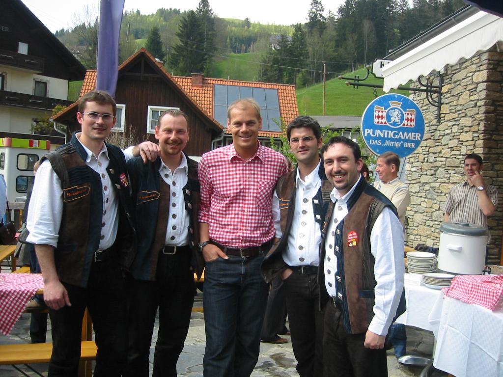 Mit Abfahrts Weltmeister Michael Walchhofer