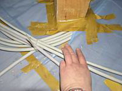 Leckage bei der Kabeldurchführung