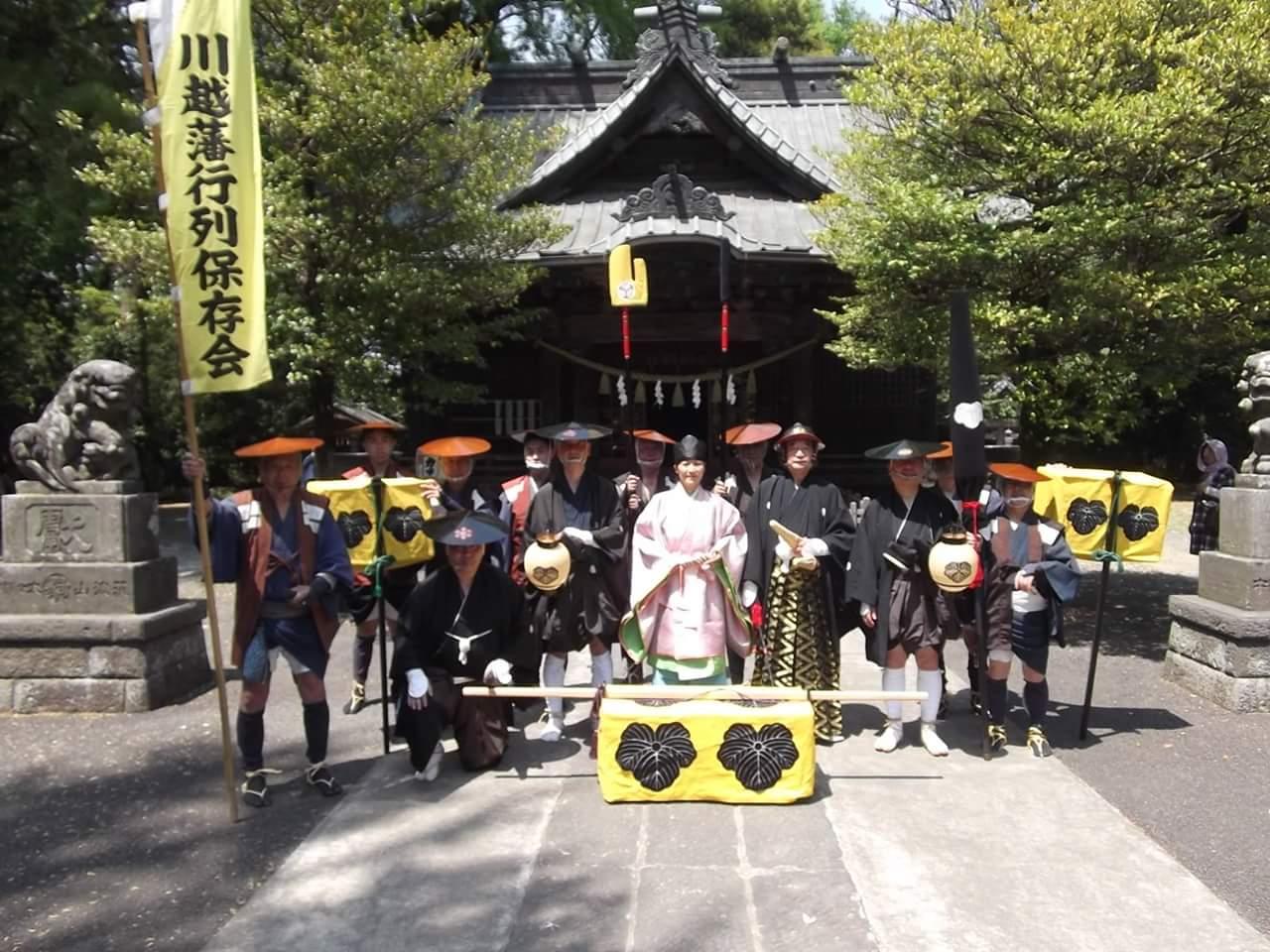 加須市騎西 玉敷神社にて