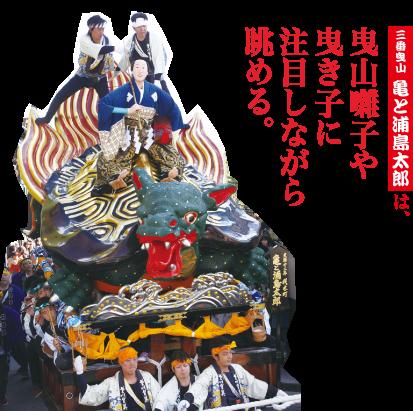 3番曳山 亀と浦島太郎 材木町 天保12年(1841)