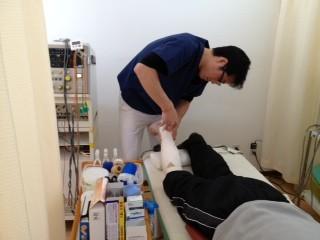 捻挫、肉離れの治療