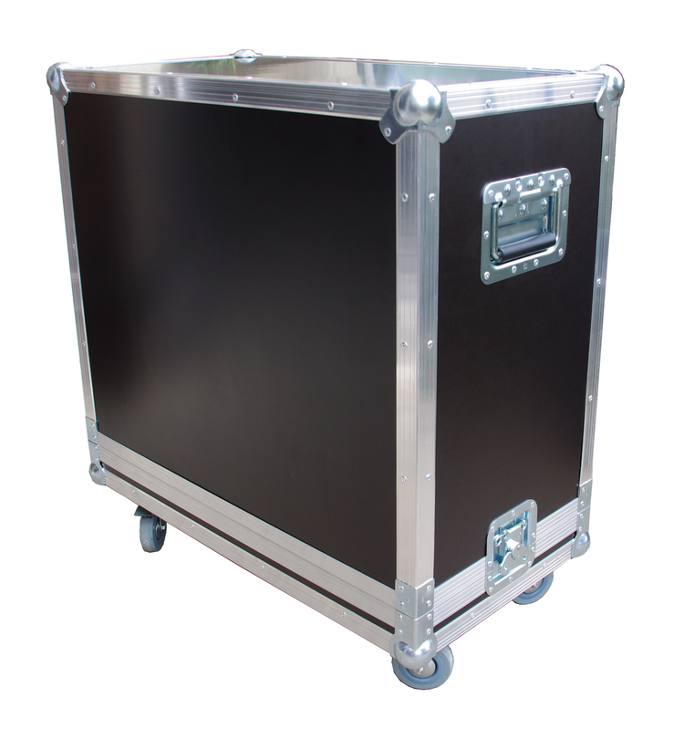 Flight case ridebox pour combo Bogner Shiva (roulette 75mm)