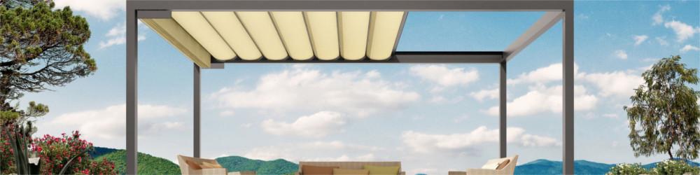 Terrassen Pavillon BAVONA von Stobag (Dachvariante Softtop)
