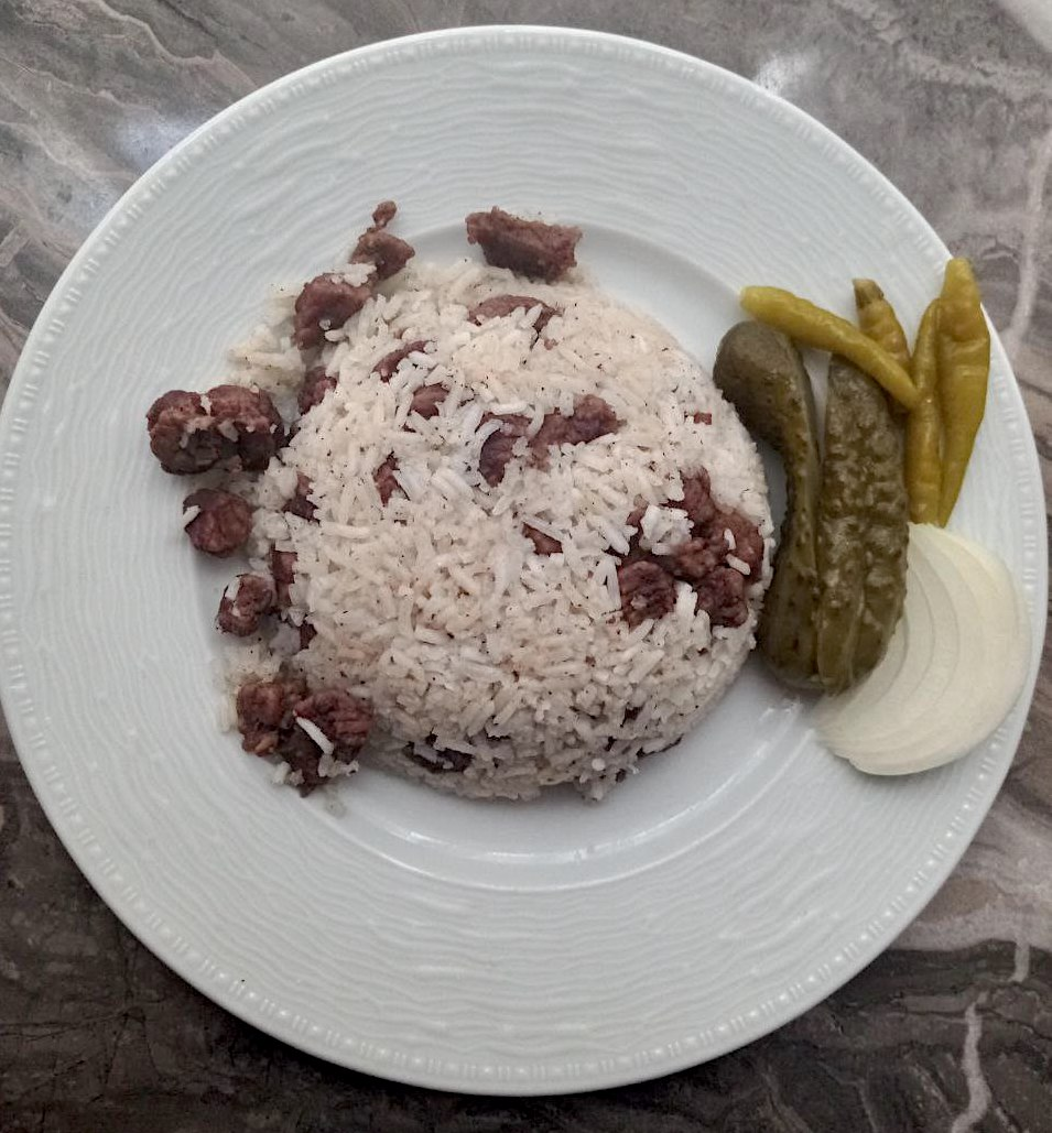 Reisfleisch auf türkische Art: Kavurmali Pilav