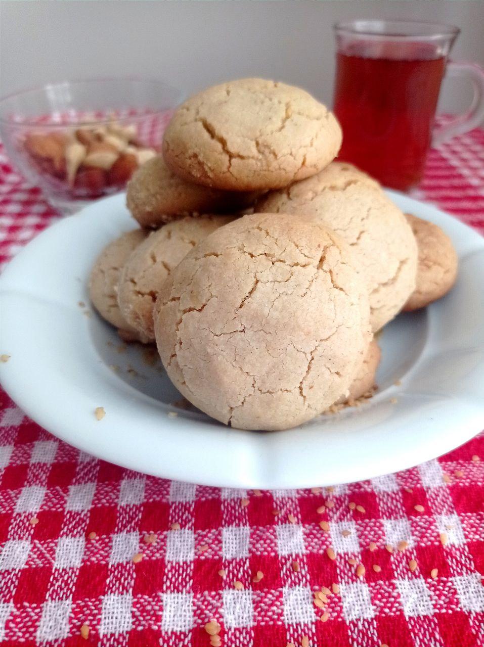 Vegane Kekse mit Sesampaste: original türkisches Rezept