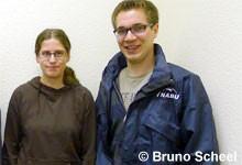 Die beiden neuen Sprecher: Lisa Schmidt und Christian Höppner.