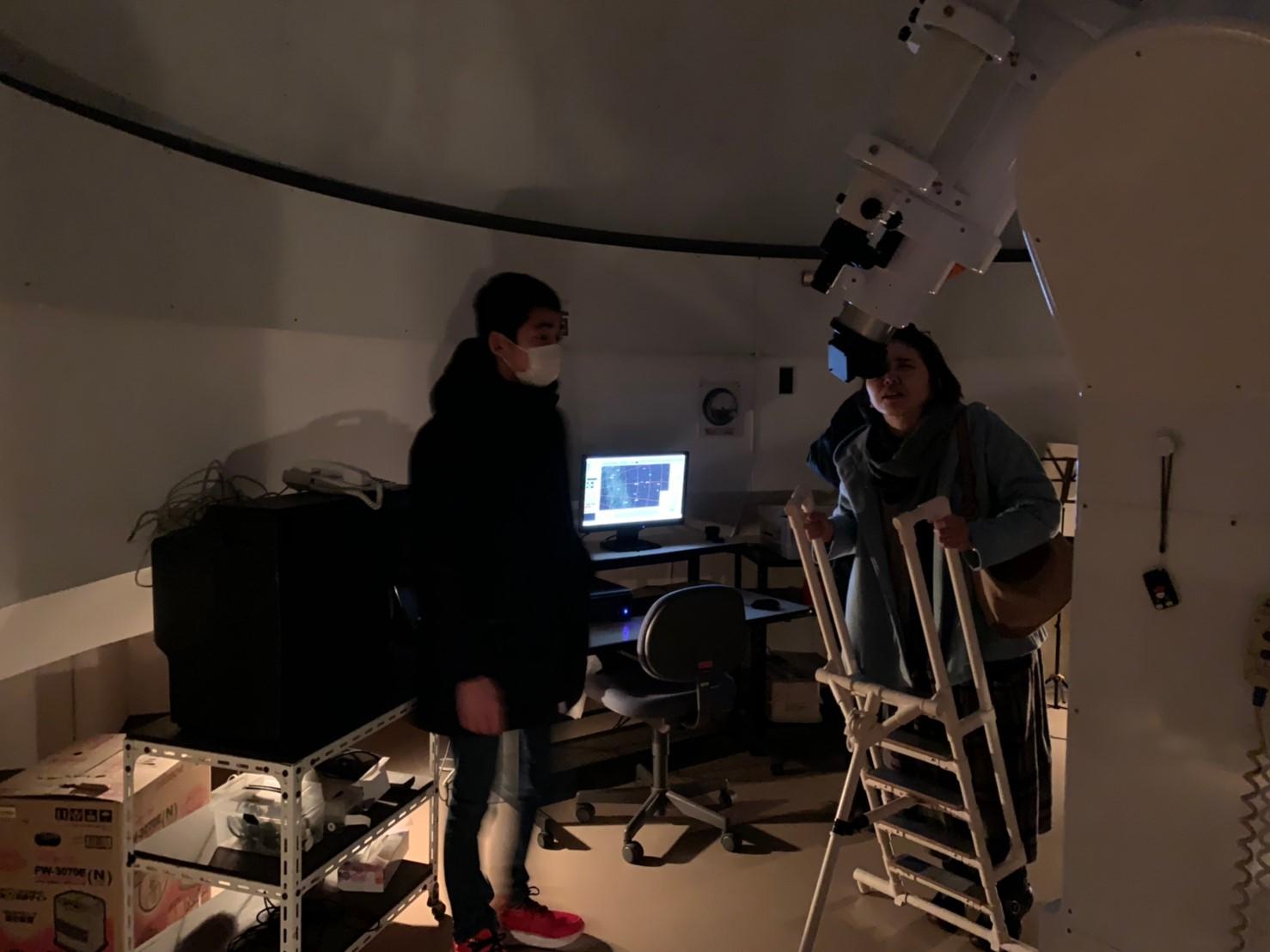 大望遠鏡では海王星や天王星をうつしました
