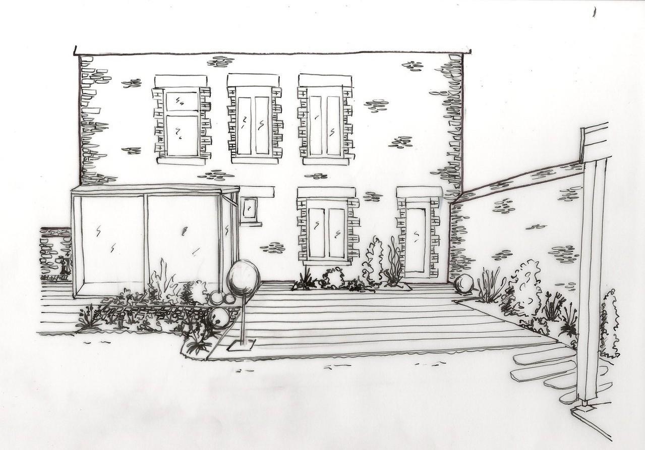 Etude de terrasse pour mise en valeur d'une maison de ville