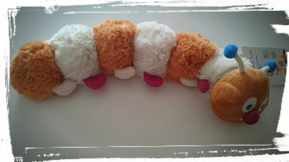 Tobi, der Tausendfüßler (Wärmekissen-Kuscheltier mit Hirsekräuterfüllung und beruhigendem Lavendelduft)