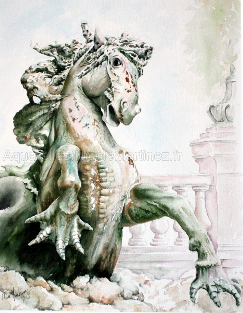 Cheval reptile - Fontaine des Girondins
