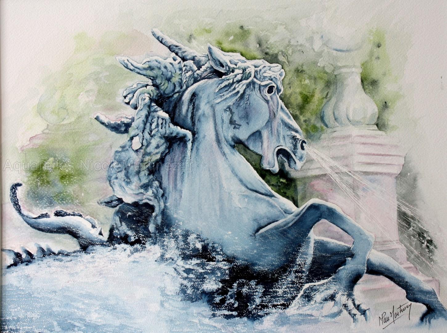 Cheval poisson - Fontaine des Girondins