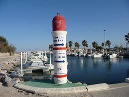 Le port du club de pêche en mer et de plaisance de Sainte Marie la Mer. La SMPP. 66470 est situé à côté de Canet en Roussillon