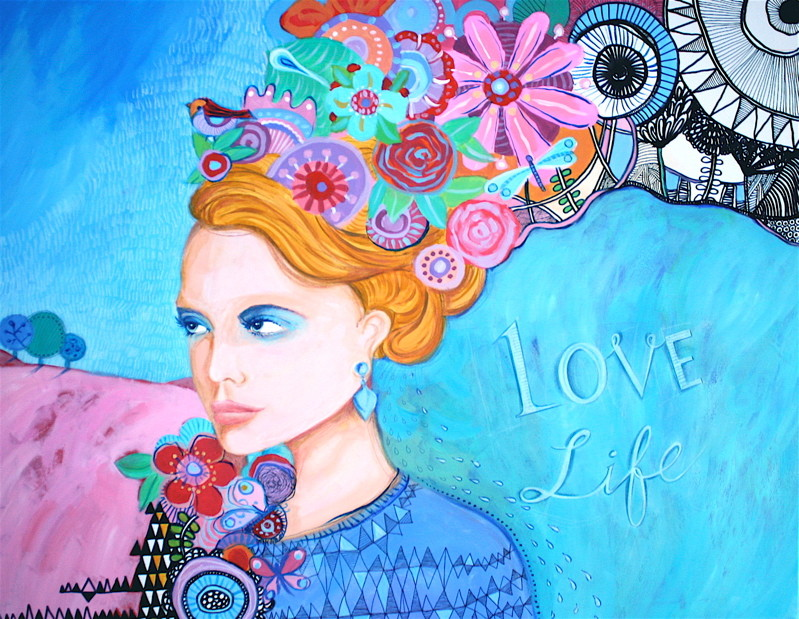 """LOVE LIFE"" - 100 cm x 81 cm / FOR SALE"