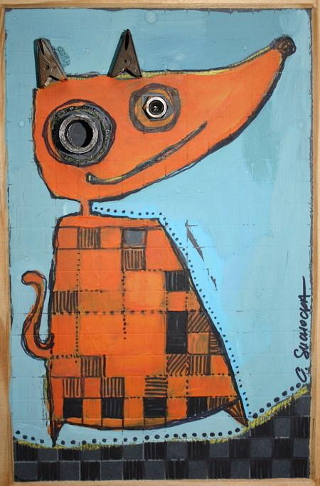 """LE PETIT RENARD"" - 18 cm x 26 cm - VENDU"