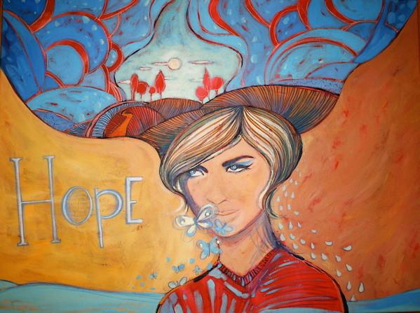 """""""HOPE"""" - 60 cm x 80 cm"""