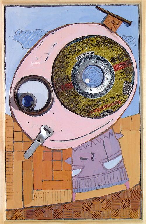 """""""MONSIEUR BOUCHON"""" - 18 cm x 26 cm - SOLD"""