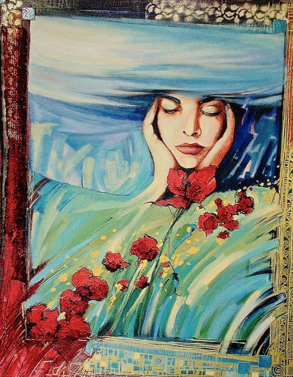 """""""LA TÊTE DANS LES NUAGES"""" - 100 cm x 81 cm /COLLECTION PRIVÉE"""