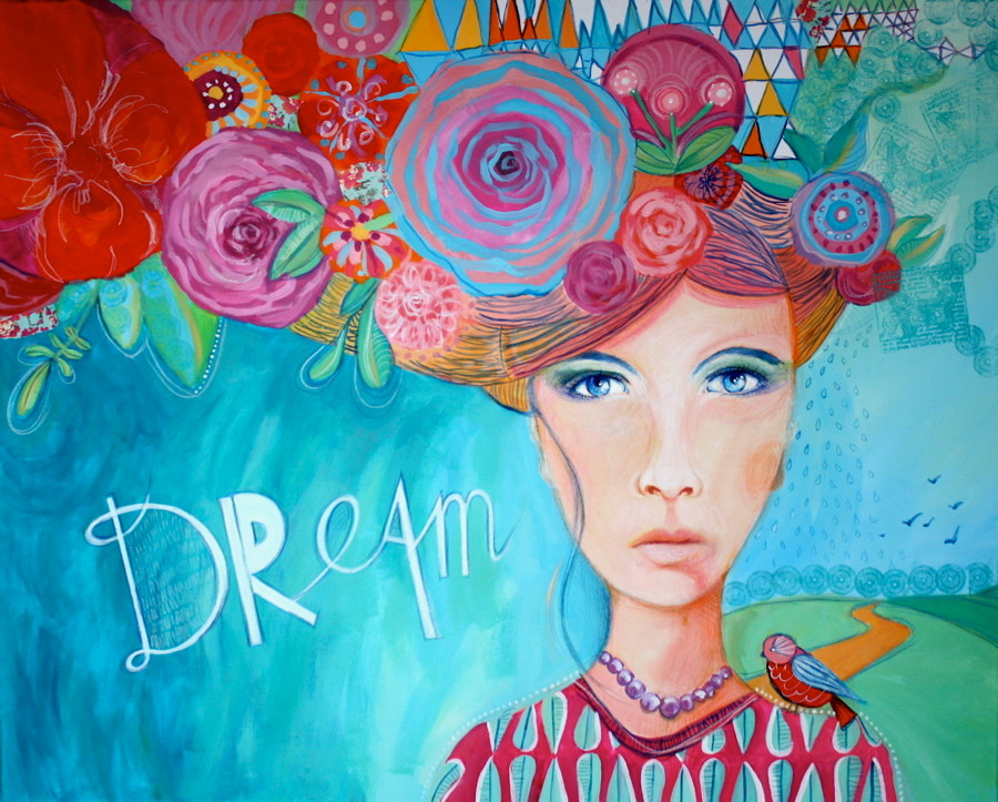 """DREAM"" - 100 cm x 81 cm /VENDU/SOLD"