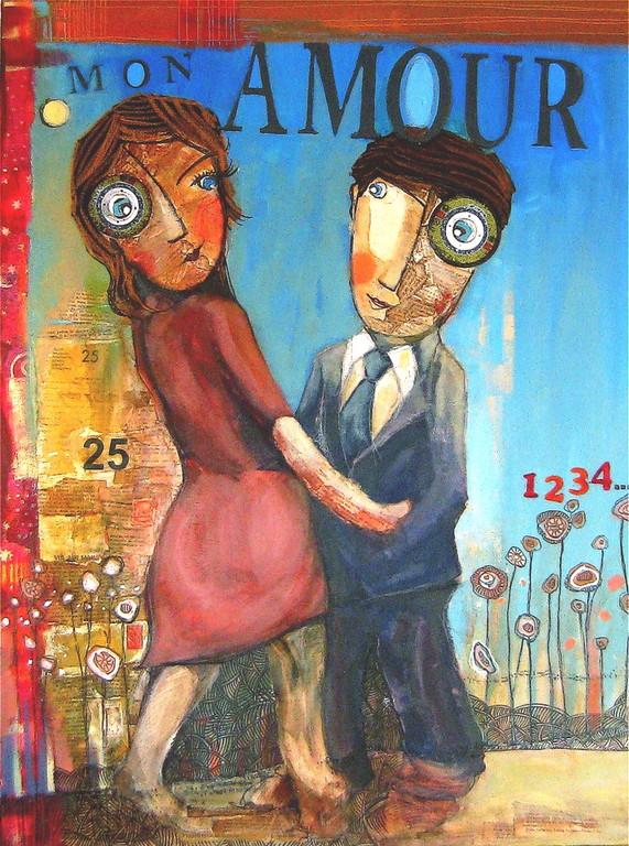 """""""MON AMOUR""""  - 60 cm x 80 cm - 980 €"""