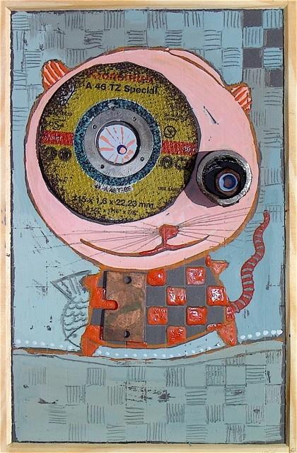 """""""LE PETIT CHAT"""" - 18 cm x 26 cm - VENDU"""