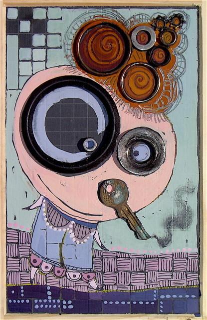 """MADAME LA CIGARETTE"" - 18 cm x 26 cm - VENDU"