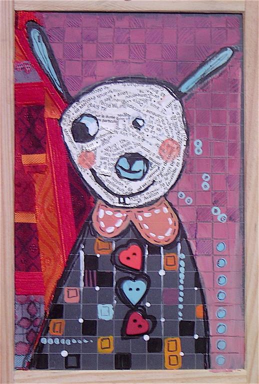 """""""LE PETIT LAPIN"""" - 18 cm x 26 cm - VENDU"""