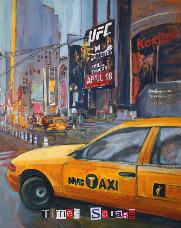 New York City - Times Square - Toile Format : 80 cm x 100 cm - VENDU