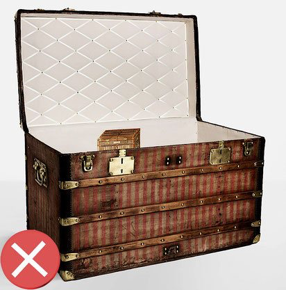 Example of a bad restoration of malle vuitton