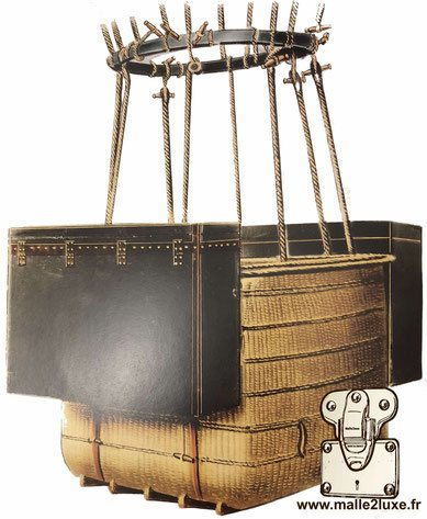 Pair of louis vuitton hot air balloon trunk
