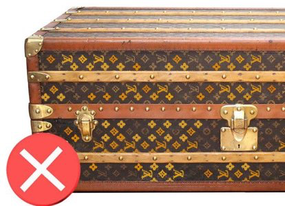 Painted canvas Louis Vuitton trunks