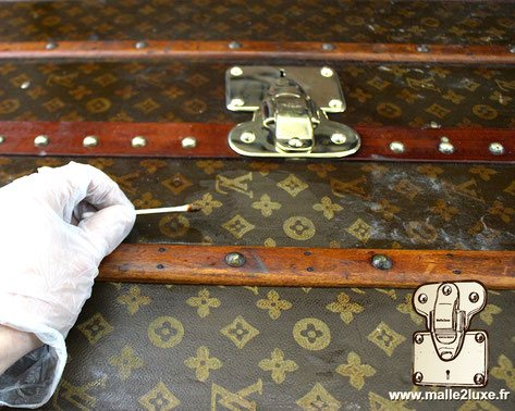 old vuitton trunk restoration workshop in paris